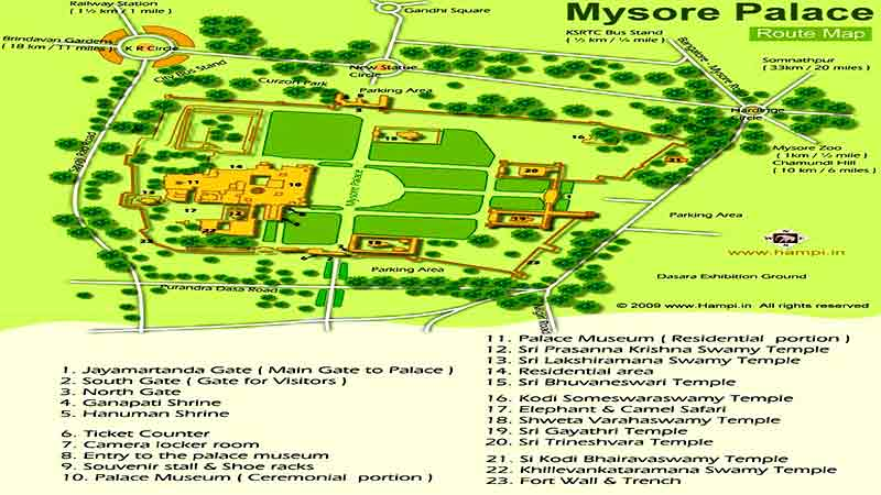 mysore-palace-map